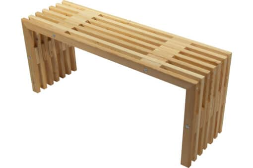 Ecofurn 91181 D Bench Larch Natural Scaled