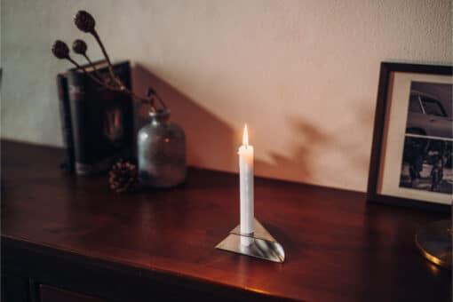 Square Candle - Sølv