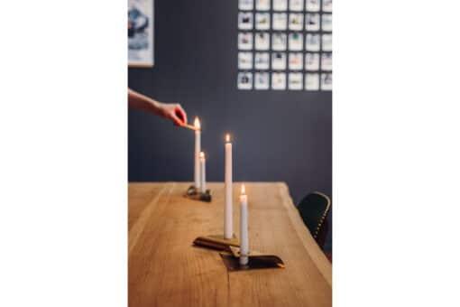 Square Candle 4 Stk - Gull